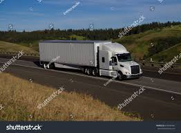 White Freightliner Cascadia Pulling White Unmarked Stock Photo (Edit ...