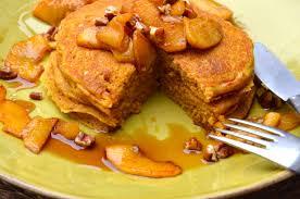 Pumpkin Pancakes W Bisquick by Pumpkin Pancakes With Sauteed Apples Pamela Salzman U0026 Recipes