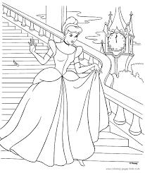 Cinderella Color Page Disney Coloring Pages Plate Free Printable