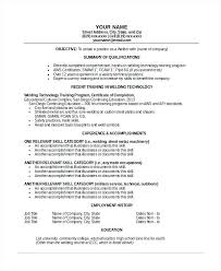 Resume Objective Samples Welding And Welder