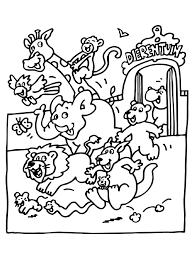 Zoo Animals Coloring Pages For Preschoolers