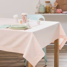 pastel dining room powder pink cotton tablecloth 170 x 170 cm