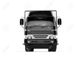 Small Black Box Truck - Front View Stock Photo, Picture And Royalty ...