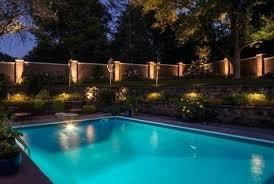 Outdoor Fence Lighting Amazing Outdoor Recessed Lighting Around