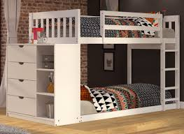 Bunk Beds Columbus Ohio by Donco Kids Mission Twin Over Twin Bunk Bed With Chest And Storage