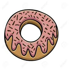 donut drawing over white background vector illustration Stock Vector