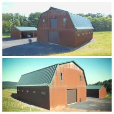 2-story Barn With Classic Green Metal Roof And Rustic Corrugated ... Gambrel Steel Buildings For Sale Ameribuilt Structures Wagler Builders Blog Post Frame Building And Metal Roofing Sliding Doors Barn Agricultural Gl Want To Do Something Like This The Door Pole Barn Roof 25 Lowes Siding Tin Sheets Astrowings 1958 Thunderbird A Shed From Scratch P3 Planning Gallery Category Cf Saddle Leather Brown Image Red Cariciajewellerycom Modern Red Metal Stock Photo Of Building 29130452 Truten A1008 In 212 Corrugated Siding Pinterest