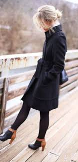 Stylish Winter Outfit Black Trench Coat