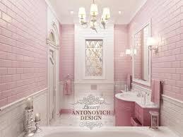 rosa badezimmer mit mosaik luxus antonovich design