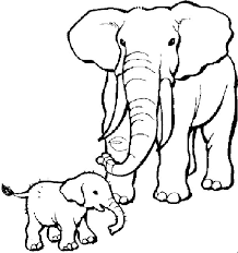 Elephants Coloring Pages 15