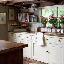 Kitchen Window Decorating Ideas With Butcher Block Countertops Also White Base Cabinet And Wooden Ceiling Besides Simple