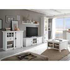 lomadox wohnwand wingst 61 9 tlg wohnzimmer set inkl couchtisch landhaus stil pinie weiß nb stellmaß vitrine ca 63 cm kaufen otto