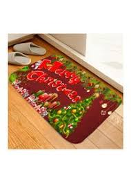 zjp weihnachtsserie teppich flanell türmatte schlafzimmer