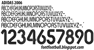 FONT FOOTBALL Font Vector Adidas 2006 kit