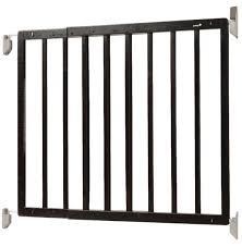 Safety 1st 27-43 Inch Top Of Stairs Decor Swing Gate - Espresso ... Baby Gate For Stairs With Banister Ipirations Best Gates How To Install On Stairway Railing Banisters Without Model Staircase Ideas Bottom Of House Exterior And Interior Keep A Diy Chris Loves Julia Baby Gates For Top Of Stairs With Banisters Carkajanscom Top Latest Door Stair Design Wooden Rs Floral The Retractable Gate Regalo 2642 Or Walls Cardinal Special Child Safety Walmartcom Designs