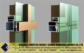 Kawneer Curtain Wall Doors by Good Quality Aluminum Frame Kawneer Unitized Curtain Wall System
