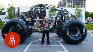 The Youngest Female Monster Truck Driver Builds Her Own Rides - YouTube