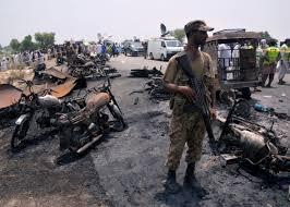 100 Truck Explosion Overturned Oil Truck Explodes In Eastern Pakistan