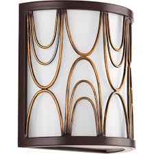 progress lighting cirrine collection 1 light antique bronze wall