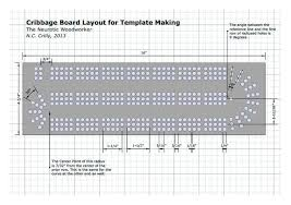 15 Cribbage Board Template Images Patterns Kid