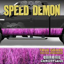 100 Pink Camo Trucks Rocker Panel Wrap Kit Foxtail Highgrass Uflage Speed
