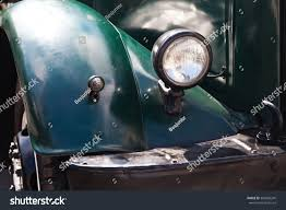 Oldtimer Vintage Truck Dark Green Color Stock Photo & Image (Royalty ...
