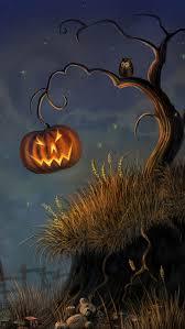 Halloween Tree iphone 5 Wallpaper pumpkin creations