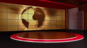 News TV Studio Set 156 Virtual Green Screen Background Loop Motion