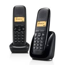 téléphone fixe sans fil gigaset a150 duo noir téléphone sans fil