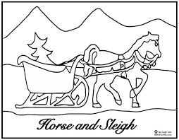 Printable Horse And Sleigh Coloring Page