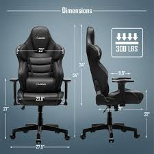 Musso Big & Tall Contoured Gaming Chair Adjustable Racing Style Computer  Chair With Fully Foam, Premium PU Leather Executive Office Chair With  Lumbar ...