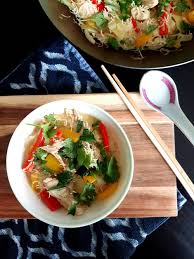 Thai Green Pumpkin Curry Recipe by Thai Green Coconut Curry Chicken With Rice Noodles U2014 Yay For Food