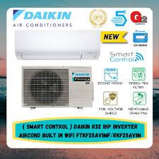 smart daikin r32 1hp inverter aircond built in wifi ftkf25av1mf rkf25av1m