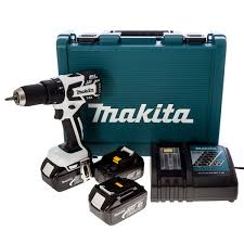 Makita Uk Production Tools by Makita Dhp459rf3w Lxt 18v Li Ion Brushless Combi Drill Black