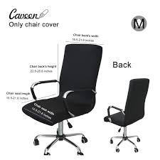 CAVEEN Office Computer Chair Cover Fabric High Back Stretchy Seat Cover  【Size:M】 New Comfortable Wrinkle Resistant Wedding Chair Covers Spandex Ding Room Office For Folding Chairs Hood Removable Stretch 10 Style Elastic Home Cover Restaurant Table Cloth Fabric Universal In Four Seasons Decoration Supplies Decor For Party Subrtex Wing Slipcovers Stretchy Wingback Armchair Detachable Sofa Leaves Printed Fniture Protector Do It Yourself Divas Diy Reupholster An Old Lazboy Recliner Wired And Inspired Folding Revamp 4 Ways To Make A Wikihow How Increase The Height Of An Existing Decorating Ideas Metal Fold Up Chairs Thriftyfun Your Cooking Process Easier With Stepup Kitchen Helper Black Polyester Car Seat 132 X 54cm Waterproof Washable Pretend Toy Kids Doll House Miniature Foldable Wooden Deckchair Lounge Beach