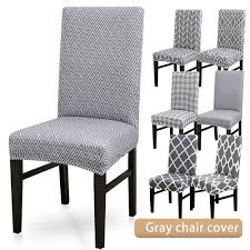Details About Stretch Dining Chair Cover Grey Slipcover Removable Wedding  Banquet Event IN Strands By Waverly One Piece Chair Slipcover For Dayton Arm Host Chairs Ethan Allen Spandex Elastic Floral Print Letter Pattern Slipcovers Stretch Subrtex 2piece Stretchable Wing Back Cotton Herringbone Ding Prting Modern Removable Antidirty Kitchen Seat Case Cover Banquet Set Of 4 Grey Home Fashion Designs Teal Jersey Four Recling Chair T Cushion Gray Sure Fit Armchair Covers Roomdark 6 Velvet Large Surprising New Design Of Armless With