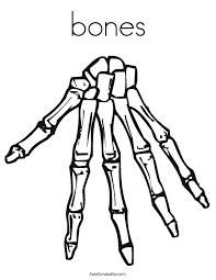 Bones Coloring Page