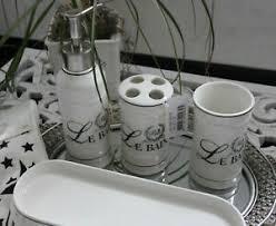 clayre eef le bain badezimmer set 4 teilig neu ebay