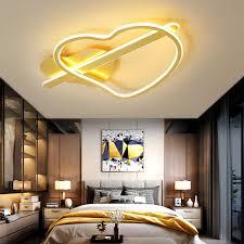 moderne led herz form deckenleuchte mit fernbedienung gold braun dimmbar acryl deckenle skandinavische amors pfeil kronleuchter beleuchtung für