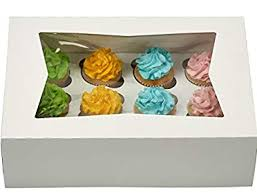 Window Bakery Cupcake Box With Insert 14quot X 10quot 4quot Fits 12