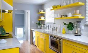 conseil deco cuisine cuisine jaune gris