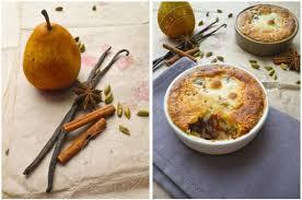 dessert aux poires leger poires amandines au chocolat et aux epices cuisine addict