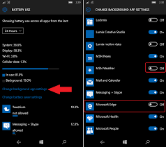 how to disable background apps for the lumia 950 and windows 10