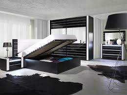 schlafzimmer komplett hochglanz schwarz weiß mit led bett schrank 2 x nako