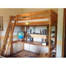 lit mezzanine 1 place avec bureau mezzanine 1 place en pin massif avec bureau et étagère