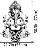 Removable Watrproof Wallpaper Vinyl Wall Sticker Art Decor Decal Ganesh Buddha Elephant Om Yoga Hindu Mandala D183
