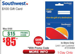 $100 Southwest Gift Card For $85 At Fry's (B&M Only) With ...