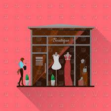 Clothing Store Royalty Free Vector Clip Art