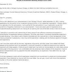 Investment Banking Associate Cover Letter Sample