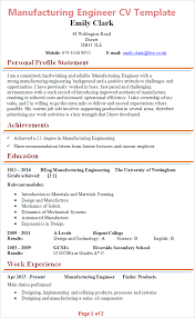 Manufacturing Engineer CV Template Tips And Download
